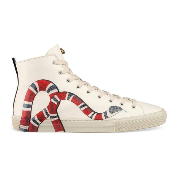 Gucci Shoes   Gucci Offwhite Kingsnake